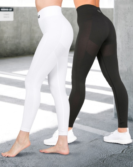 2-pack BumPro Tights Power Up! White & Black