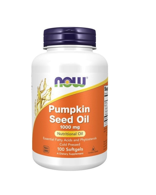 Now Foods Pumpkin Seed Oil - 1000mg - 100 soft gel