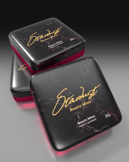 Stardust Beauty Mints - Pomegranate - MED KOLLAGEN & BIOTIN! - TREPAKNING