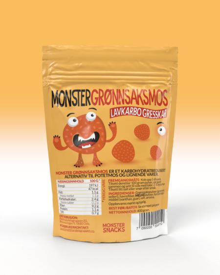 Monster Lavkarbo Grønnsaksmos - Gresskar 400g