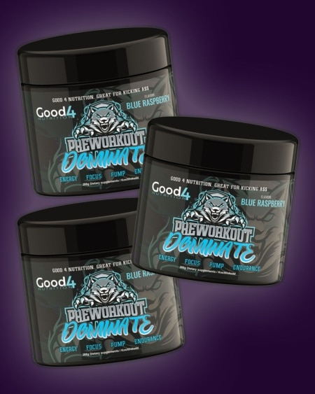 3 x Good4Nutrition Dominate PWO 288g