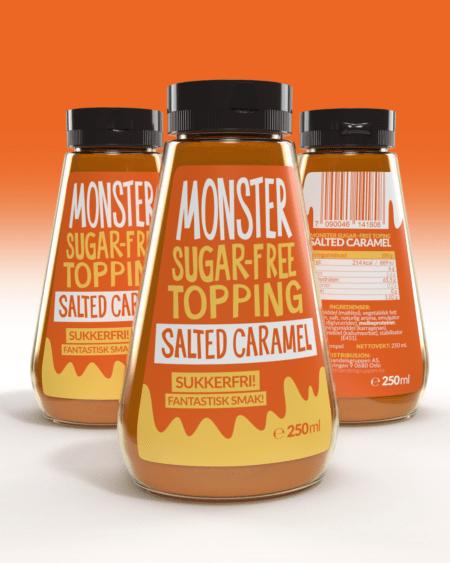 3 x Monster – Sugar Free Topping – Salted Caramel 750g