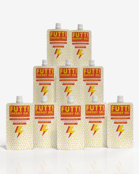 FUTT Caffeine, Energy & Electrolytes Gel 10x50g - TIPAKNING